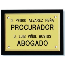 Placa Latón con Base